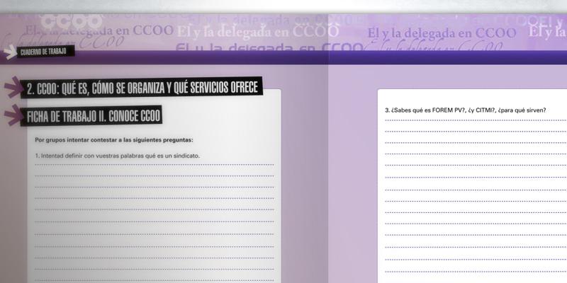 Guías didácticas y Cuadernos de trabajo para formación sindical