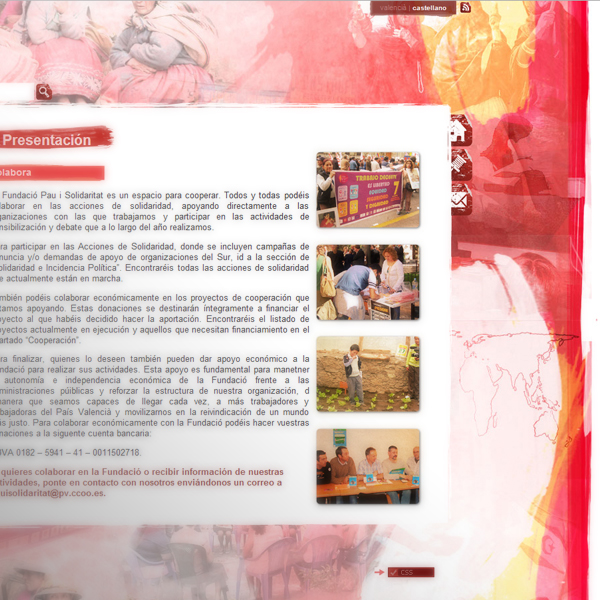 Fundación Pau i Solidaritat, PV